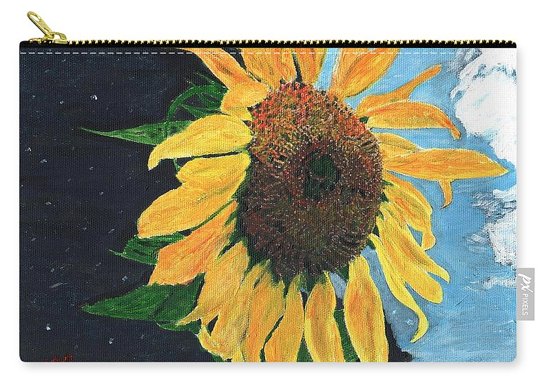 Yellow Carry-all Pouch featuring the painting Follow The Sun by Cliff Wilson