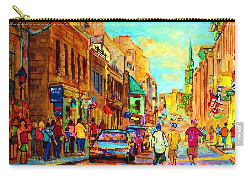 Montreal Carry-all Pouch featuring the painting Follow The Yellow Brick Road by Carole Spandau