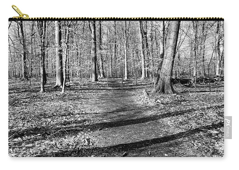 Black Carry-all Pouch featuring the photograph Follow Your Path by Art Dingo