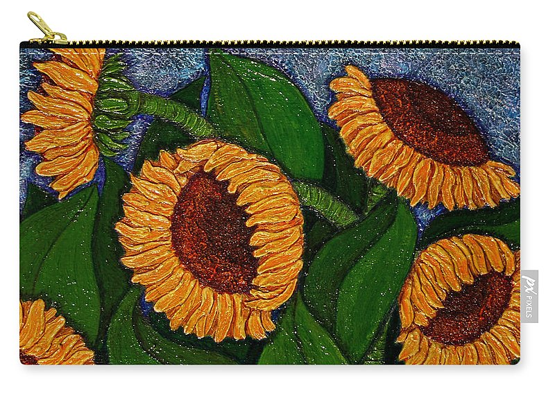 Girasoles Carry-all Pouch featuring the painting Followers Of The Sun by Madalena Lobao-Tello