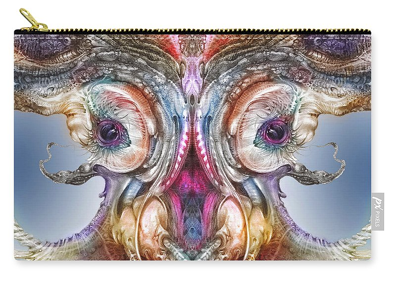 Otto Rapp Carry-all Pouch featuring the digital art Fomorii Incubator Remix by Otto Rapp