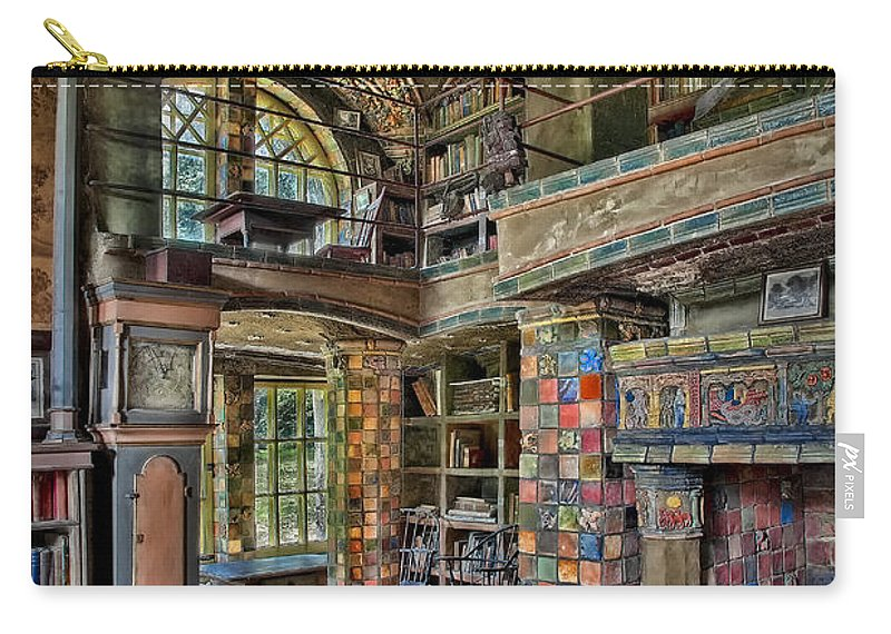 Byzantine Carry-all Pouch featuring the photograph Fonthill Castle Library Room by Susan Candelario
