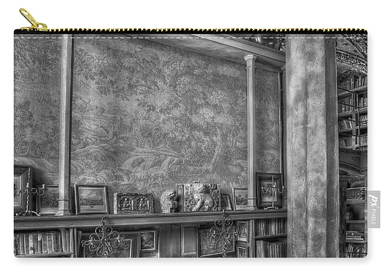 Byzantine Carry-all Pouch featuring the photograph Fonthill Castle Library by Susan Candelario