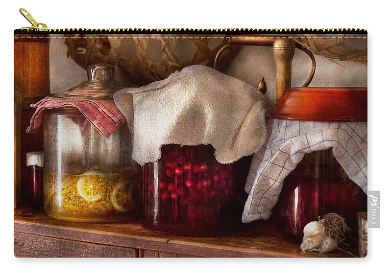 Kitchen Carry-all Pouch featuring the photograph Food - Fruit - Things You Make At Summertime by Mike Savad