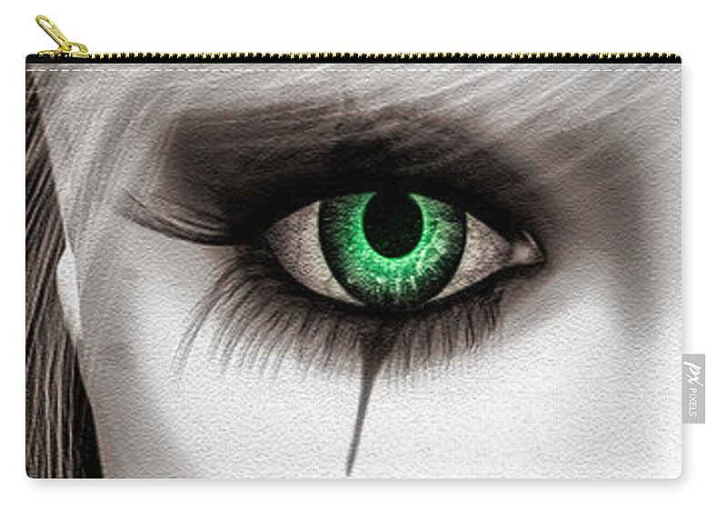 Harlequin Carry-all Pouch featuring the painting Fool by Bob Orsillo
