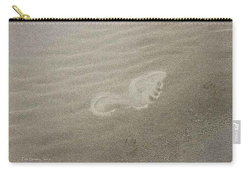 Foot Print In The Sand Carry-all Pouch featuring the photograph Foot Print In The Sand by Tom Janca