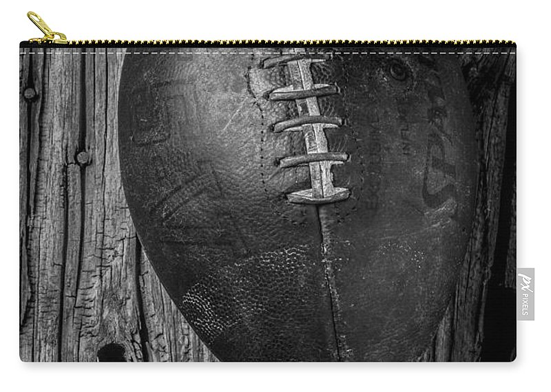 Old Carry-all Pouch featuring the photograph Football And Baseball by Garry Gay