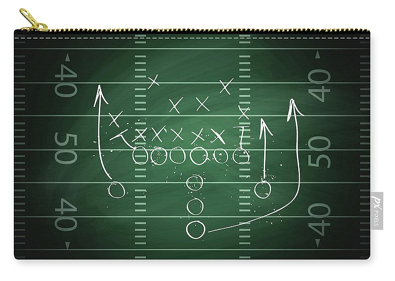 Plan Carry-all Pouch featuring the digital art Football Play by Traffic analyzer