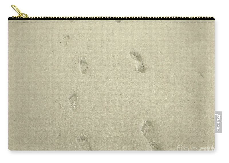 Foot Carry-all Pouch featuring the photograph Footprints by Jennifer Lavigne