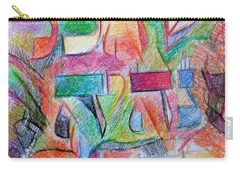 Torah Carry-all Pouch featuring the drawing For Everything Will Be From His Word by David Baruch Wolk