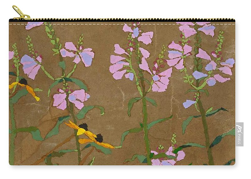 Floral Carry-all Pouch featuring the painting For Jack From Woodstock by Leah Tomaino