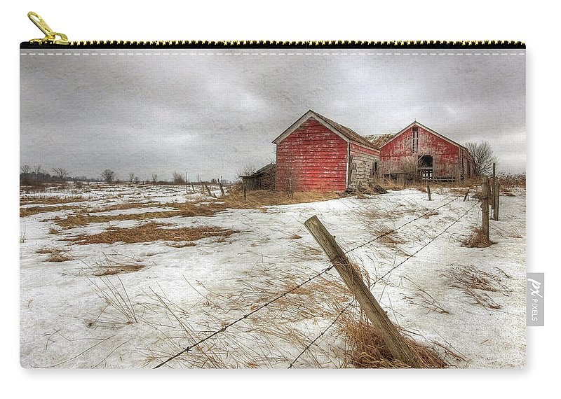 Old Red Barn Carry-all Pouch featuring the photograph For Sale by Lori Deiter