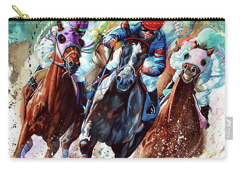 Sports Art Carry-all Pouch featuring the painting For The Roses by Hanne Lore Koehler