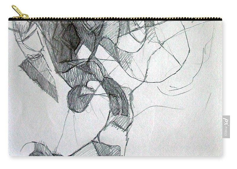 Torah Carry-all Pouch featuring the drawing For The Sake Of Information 1 by David Baruch Wolk