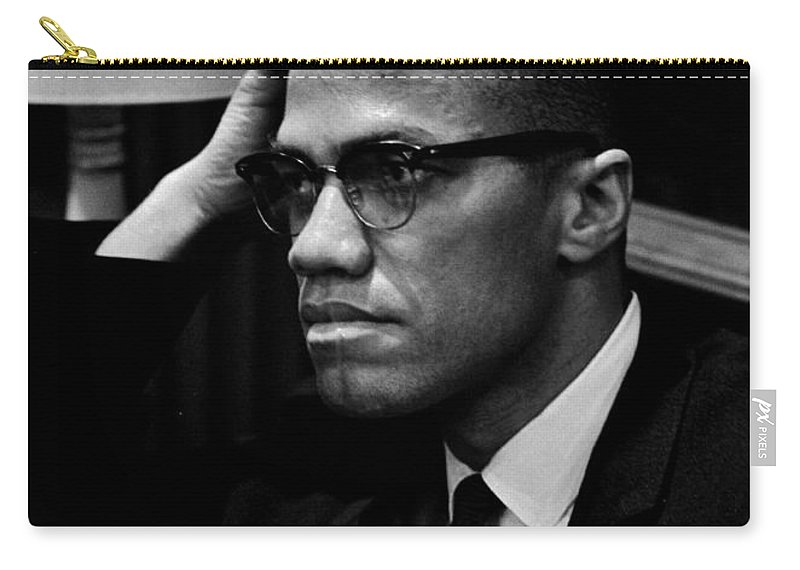 Malcolm X Carry-all Pouch featuring the photograph Forceful Resistance by Benjamin Yeager