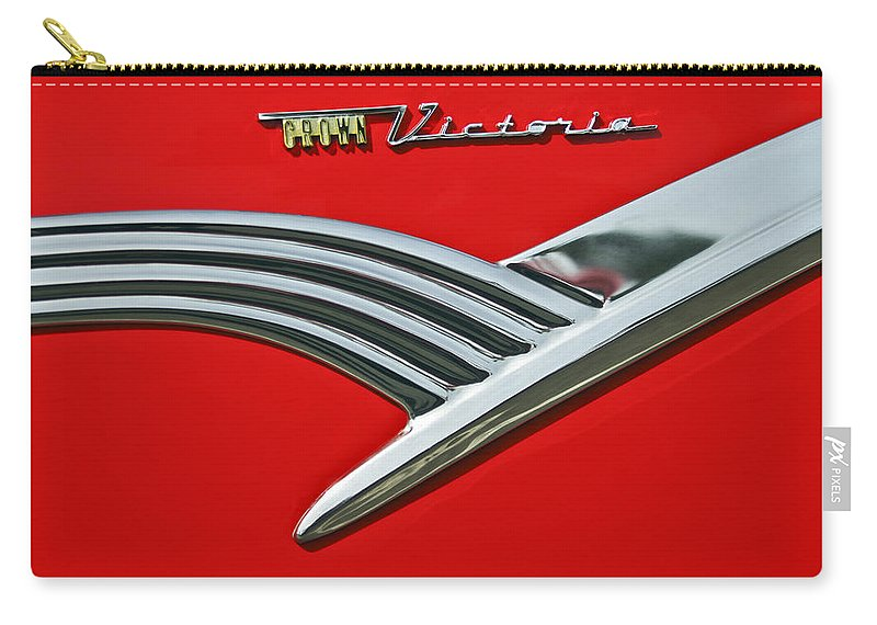 Car Carry-all Pouch featuring the photograph Ford Crown Victoria Emblem by Jill Reger