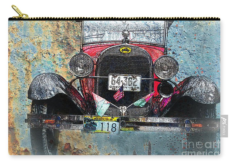 Car Carry-all Pouch featuring the photograph Ford Model A 1928 Oldtimer by Heiko Koehrer-Wagner