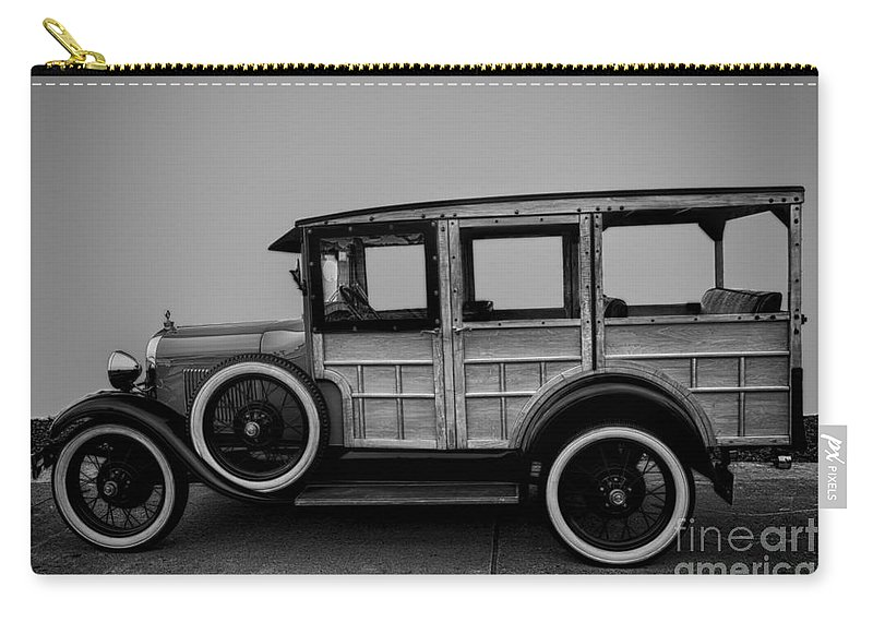 Ford Carry-all Pouch featuring the photograph Ford Model A Station Wagon 1930 by David Millenheft