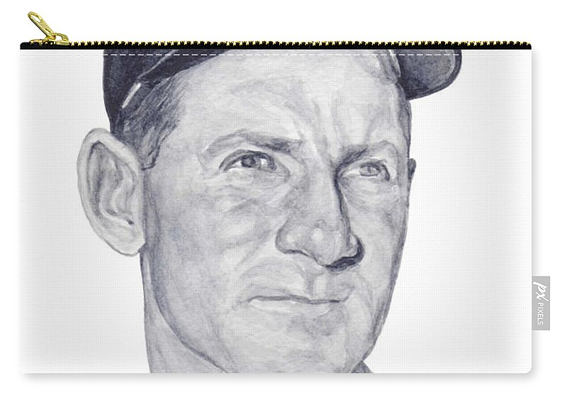 Whitey Ford Carry-all Pouch featuring the painting Ford by Tamir Barkan