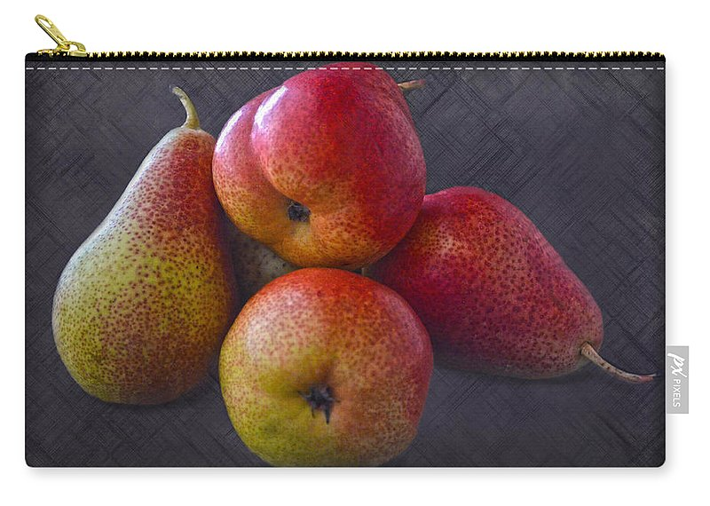 Pears Carry-all Pouch featuring the photograph Forelle Pears by Sandi OReilly