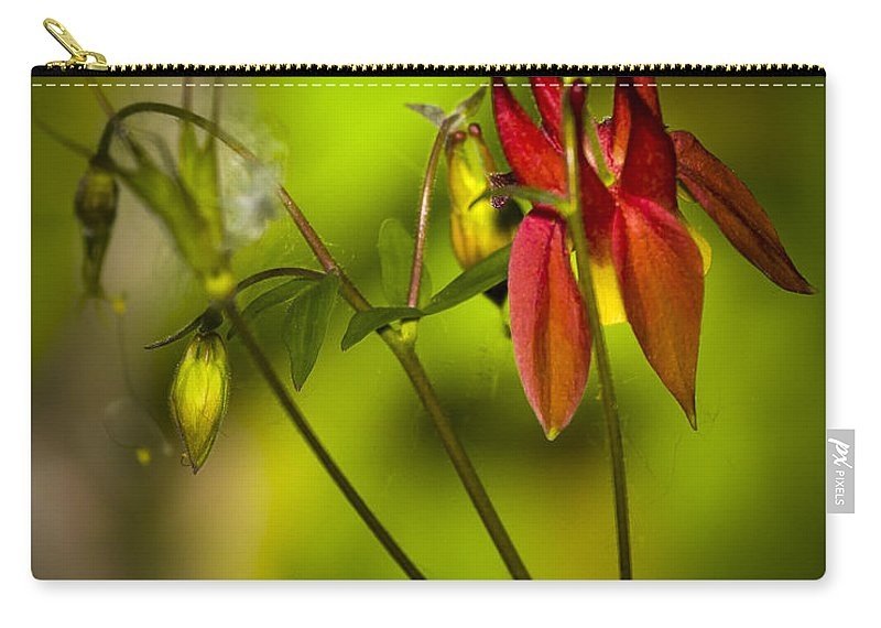 Beautiful Carry-all Pouch featuring the photograph Forest Columbine by Jack R Perry