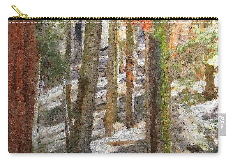 California Carry-all Pouch featuring the painting Forest For The Trees by Jeffrey Kolker