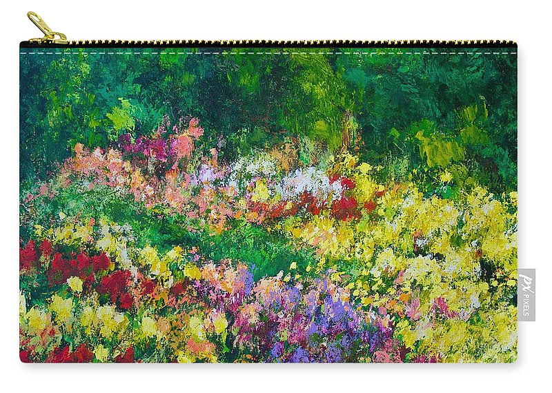 Flowers Carry-all Pouch featuring the painting Forest Garden by Allan P Friedlander