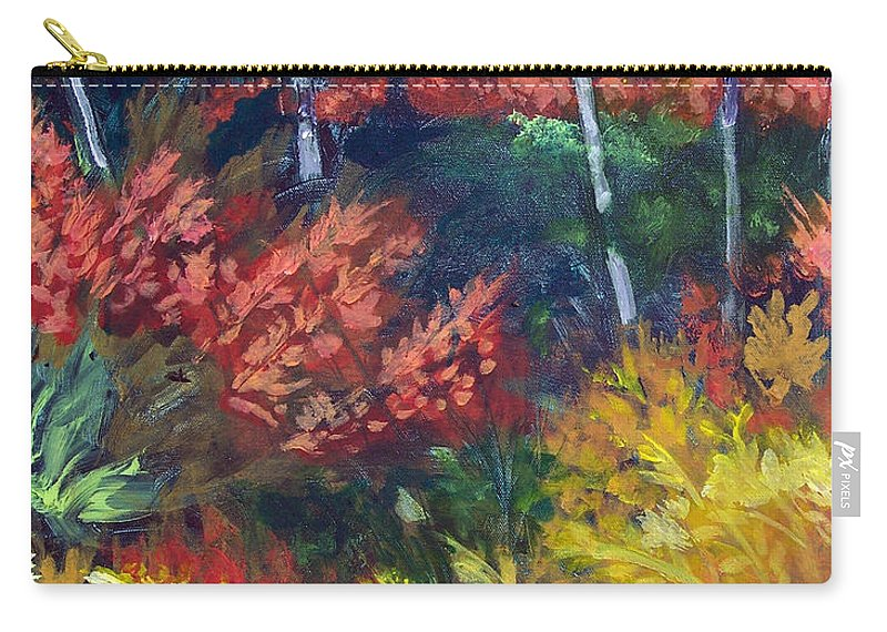 Forest Carry-all Pouch featuring the painting Forest Glade by Robert Gross