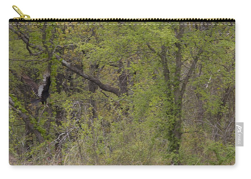 Great Blue Heron Photographs Carry-all Pouch featuring the photograph Forest Glimpse by Vernis Maxwell