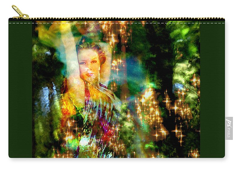 Forest Carry-all Pouch featuring the digital art Forest Goddess 4 by Lisa Yount