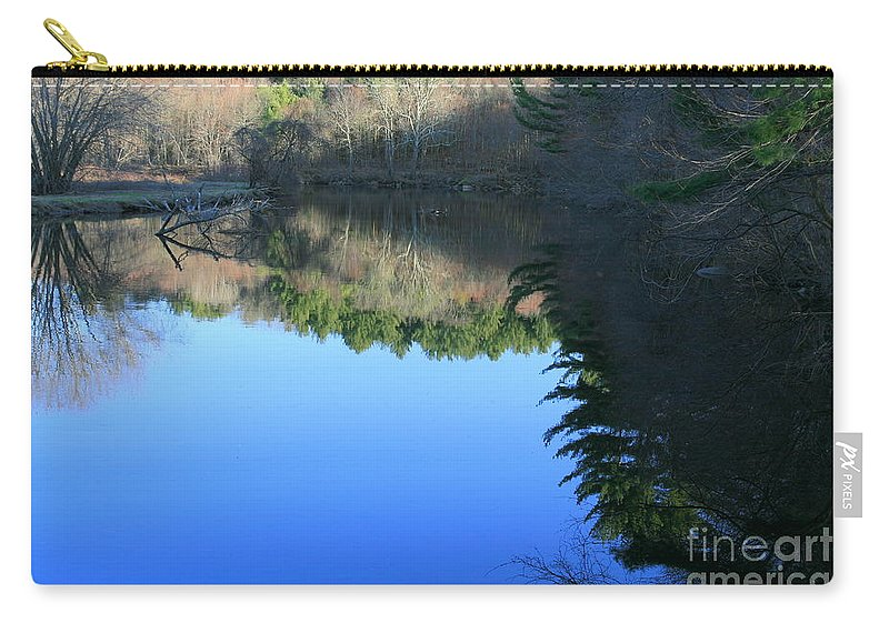 Water Reflections Carry-all Pouch featuring the photograph Forest Reflections by Neal Eslinger