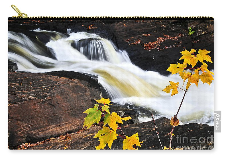 Autumn Carry-all Pouch featuring the photograph Forest River In The Fall by Elena Elisseeva