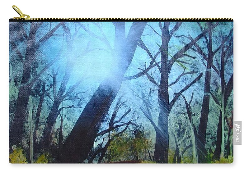 Painting Carry-all Pouch featuring the painting Forest Sunlight by Charles and Melisa Morrison