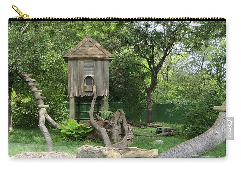 Wooden House Carry-all Pouch featuring the photograph Forest Tale by Sonali Gangane