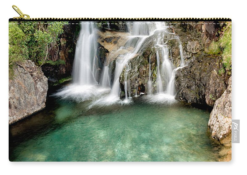 Nant Gwynant Carry-all Pouch featuring the photograph Forest Waterfall by Adrian Evans