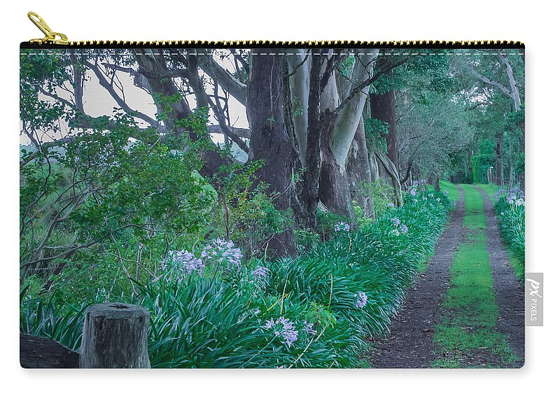 Forest Carry-all Pouch featuring the photograph Forested Path by Kaleidoscopik Photography
