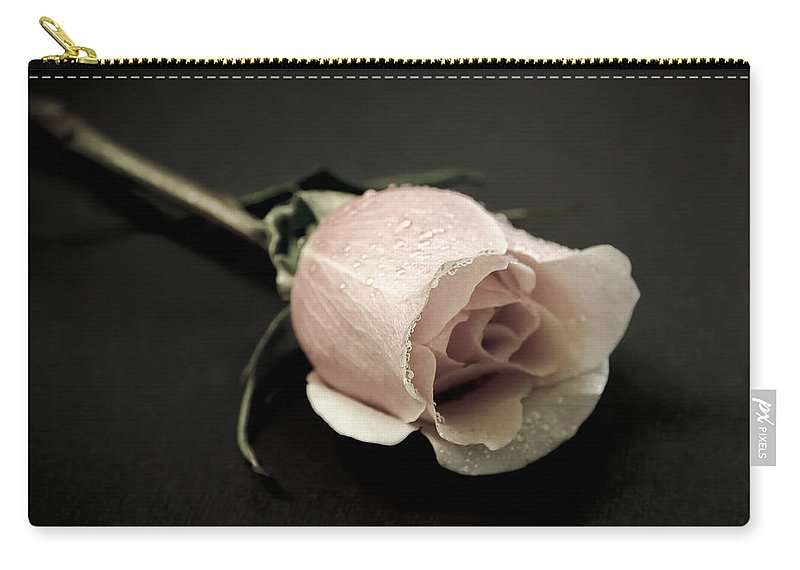 Rose Carry-all Pouch featuring the photograph Forever A Rose by Athena Mckinzie