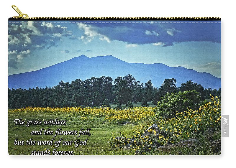 Mormon Lake Carry-all Pouch featuring the photograph Forever by Priscilla Burgers