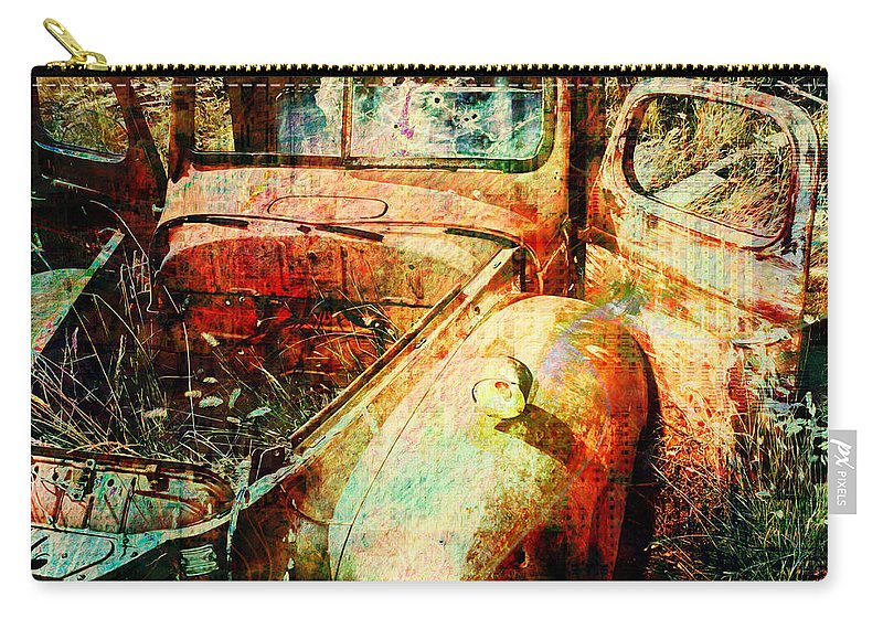 Forgotten Carry-all Pouch featuring the digital art Forgotten by Barbara Berney