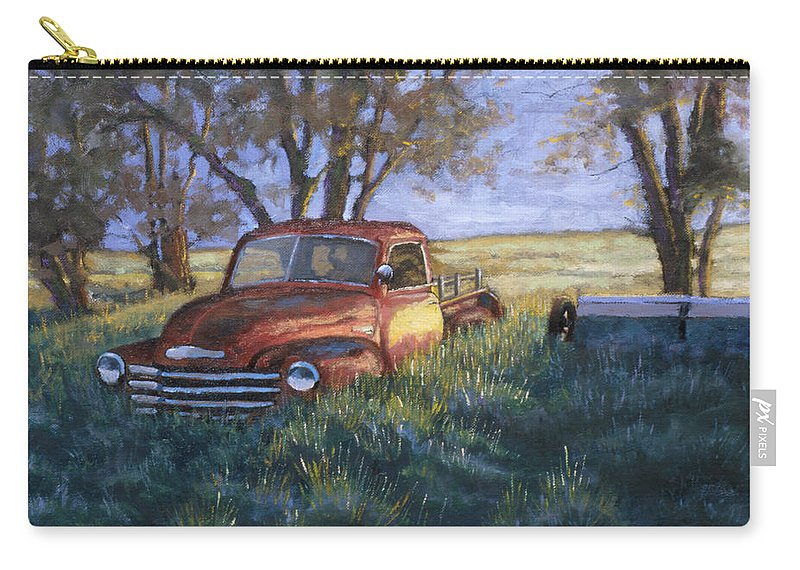 Pickup Truck Carry-all Pouch featuring the painting Forgotten But Still Good by Jerry McElroy