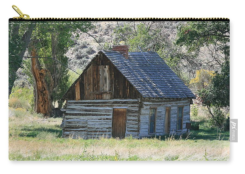 Cabin Carry-all Pouch featuring the photograph Forgotten by Marty Fancy