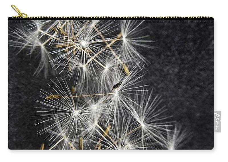 Dandelion Carry-all Pouch featuring the photograph Forgotten Wishes by Marianna Mills