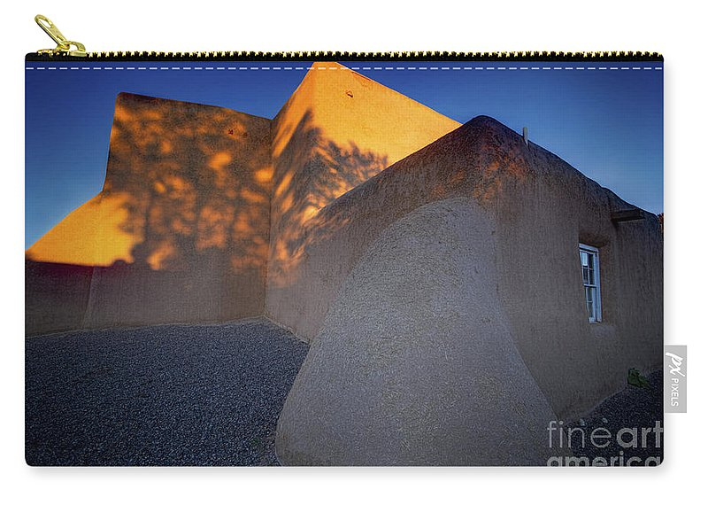 Form And Shadow Carry-all Pouch featuring the photograph Form And Shadow--san Francisco De Asis - Color by Gary Holmes
