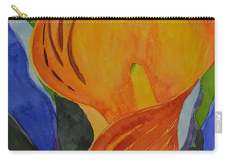 Lily Carry-all Pouch featuring the painting Form by Beverley Harper Tinsley
