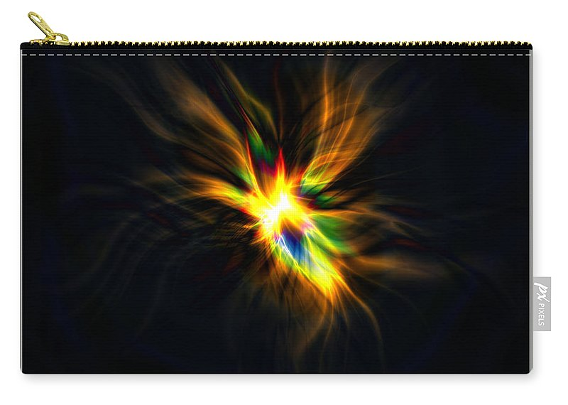 Abstract Carry-all Pouch featuring the digital art Formation Of A Thought... by Tim Fillingim