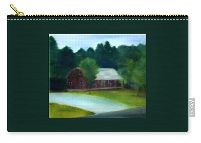 Upstate Carry-all Pouch featuring the painting Forrest's House by Sheila Mashaw