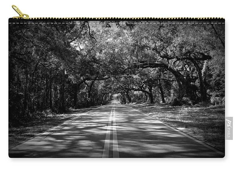 Black Carry-all Pouch featuring the photograph Fort Dade Ave by Beverly Stapleton
