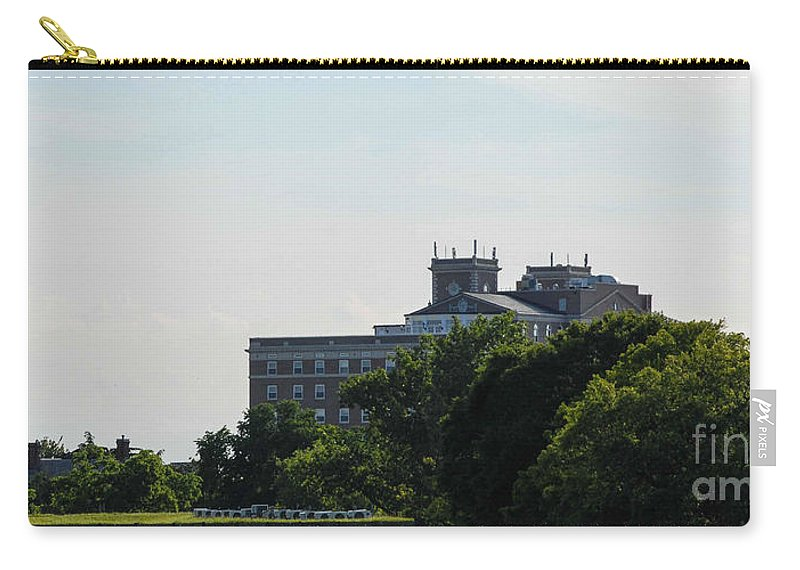 Flag Carry-all Pouch featuring the photograph Fort Monroe by Wesley Farnsworth