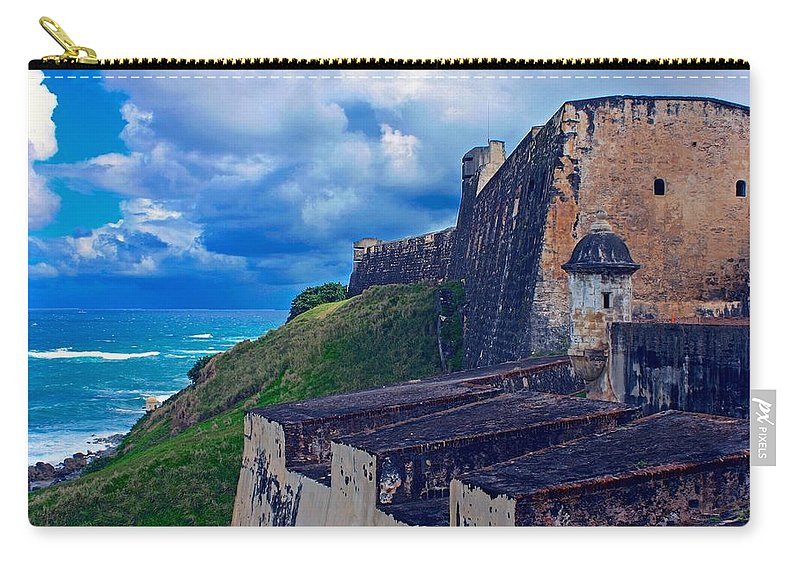 Old San Juan Carry-all Pouch featuring the photograph Fort San Cristobal by Stuart Litoff