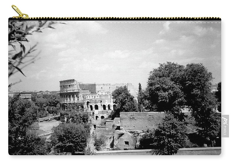 Forum Romanum Carry-all Pouch featuring the photograph Forum Romanum Rome Italy by Heike Hellmann-Brown